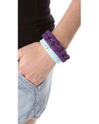 Marc By Marc Jacobs - Purple Haute Mess Rubber Turnlock Bracelet - Lyst