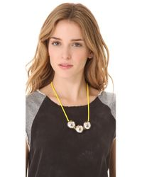 Marc By Marc Jacobs - Yellow Exploded Bow Ball Necklace - Lyst