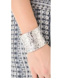 Marc By Marc Jacobs | Metallic Paste Prints Wide Foil Cuff | Lyst