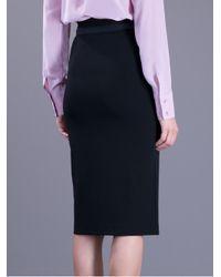 Max Mara Studio - Black Knee-length Pencil Skirt - Lyst