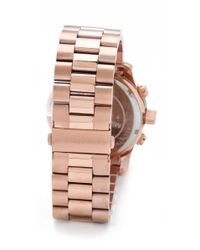 Michael Kors | Pink Oversized Watch - Rose Gold | Lyst