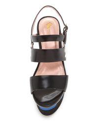 Opening Ceremony - Black Dorado Platform Sandals - Lyst