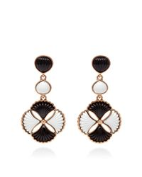 Oscar de la Renta - White Two-Stone Post Earring - Lyst