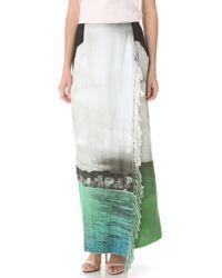 Osklen - White Crestwood Fringe Wrap Skirt - Lyst