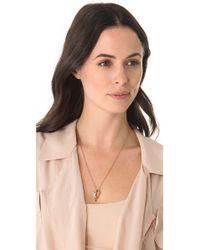 Pamela Love - Pink Mini Arrowhead Pendant Necklace - Lyst