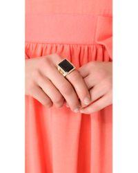 Rachel Zoe - Metallic Square Ring - Lyst