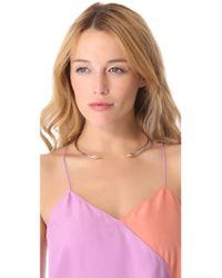 Rachel Zoe | Metallic Bear Claw Collar Necklace | Lyst