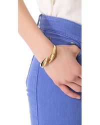 Rachel Zoe | Metallic Bear Claw Twisted Cuff | Lyst