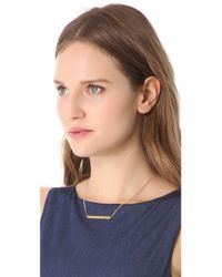 Rebecca Minkoff - Metallic Studded Id Plate Necklace - Lyst