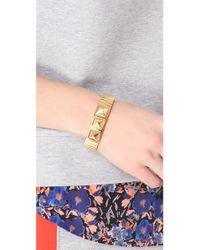 Rebecca Minkoff - Metallic Studs Watchband Bracelet - Lyst