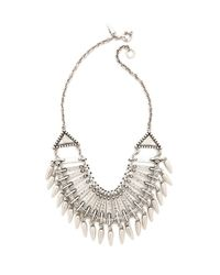 Rebecca Minkoff | Metallic Long Double Tusk Pendant Necklace | Lyst