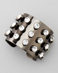 Robert Rodriguez | Metallic Crystal-stud Cuff Bracelet | Lyst