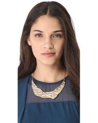 Rose Pierre - Pink Banyan Tree Bark Collar Necklace - Lyst