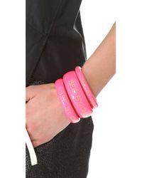 See By Chloé - Pink Logo Bangle Set - Lyst