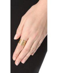 Shashi - Metallic Lulu Ring - Lyst