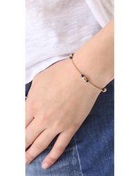 Shashi - Metallic Skull Chain Bracelet - Lyst