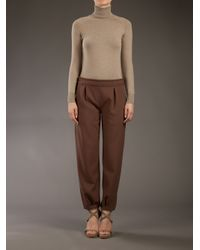 Societe Anonyme - Brown Tapered Trouser - Lyst