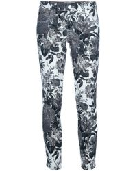 Stella McCartney | Multicolor Floral Print Skinny Jeans | Lyst