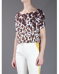 Stella McCartney Multicolor Leopard Print Tshirt