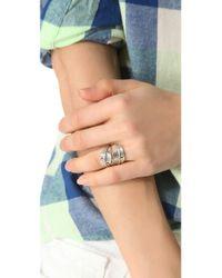 Sunahara   Metallic Feather Wrap Ring   Lyst