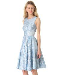 Temperley London - Blue Tile Crew Neck Dress - Lyst