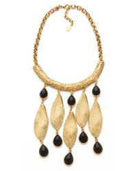 Theodora & Callum - Metallic Seashell Necklace - Lyst
