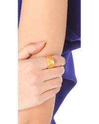 Tom Binns - Metallic Clash Studded Ring - Lyst
