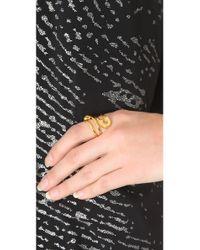 Tom Binns - Metallic Safety Pin Wrap Ring - Lyst