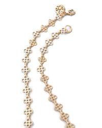 Tory Burch - Metallic Mini Clover Necklace - Lyst