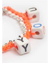 Venessa Arizaga - Orange 'love You' Woven Bracelet - Lyst