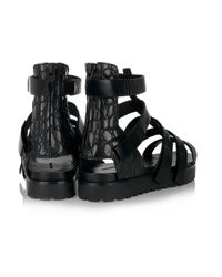 Alexander Wang | Black Saskia Leather Gladiator Sandals | Lyst