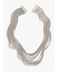 Bebe | Metallic Multi Strand Coil Necklace | Lyst
