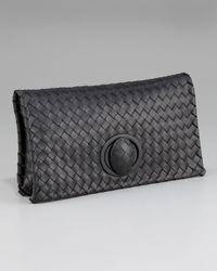 Bottega Veneta | Black Veneta Zip Clutch | Lyst
