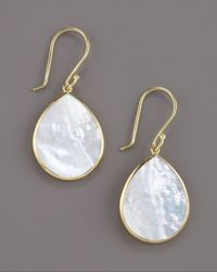 Ippolita - White Small Teardrop Earrings - Lyst