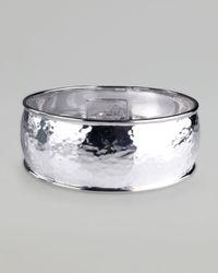 Ippolita - Metallic Hammered Silver Goddess Bangle - Lyst