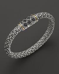 John Hardy - Metallic Naga Sterling Silver Medium Chain Bracelet with Black Sapphire - Lyst