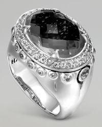 John Hardy - Bamboo Batu Silver Black Onyx Dome Ring - Lyst