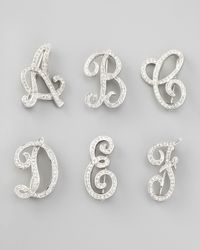 Kenneth Jay Lane | Metallic Rhinestone Initial Pin | Lyst
