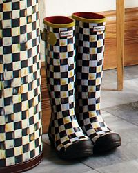 Mackenzie-Childs - Black Courtly Check Hunter Boots - Lyst