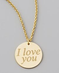 Roberto Coin | Metallic Yellow Gold I Love You Necklace | Lyst