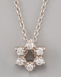 Roberto Coin | White Pave Star Of David Necklace | Lyst