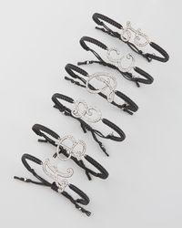 Tai | Black Pave Initial Bracelet | Lyst