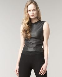 The Row | Black Gilmore Leather Top | Lyst