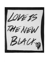 Topshop | Love Is The New Black Scarf | Lyst
