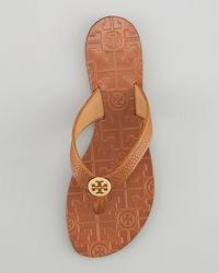 Tory Burch | White Thora Leather Thong Sandal | Lyst