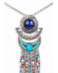 Urban Outfitters - Metallic Statement Bead Pendant Necklace - Lyst