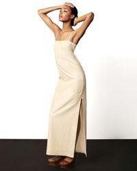 Cacharel | White Eyelet Shift Maxi Dress | Lyst