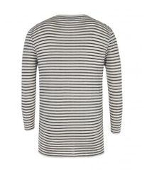 AllSaints - Gray Mirach Three Quarter Sleeve T-Shirt for Men - Lyst