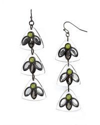 BaubleBar - Green Lucite Cactus Flower Drops - Lyst