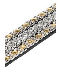 Maria Rudman | Black Embroidered Leather Bracelet | Lyst